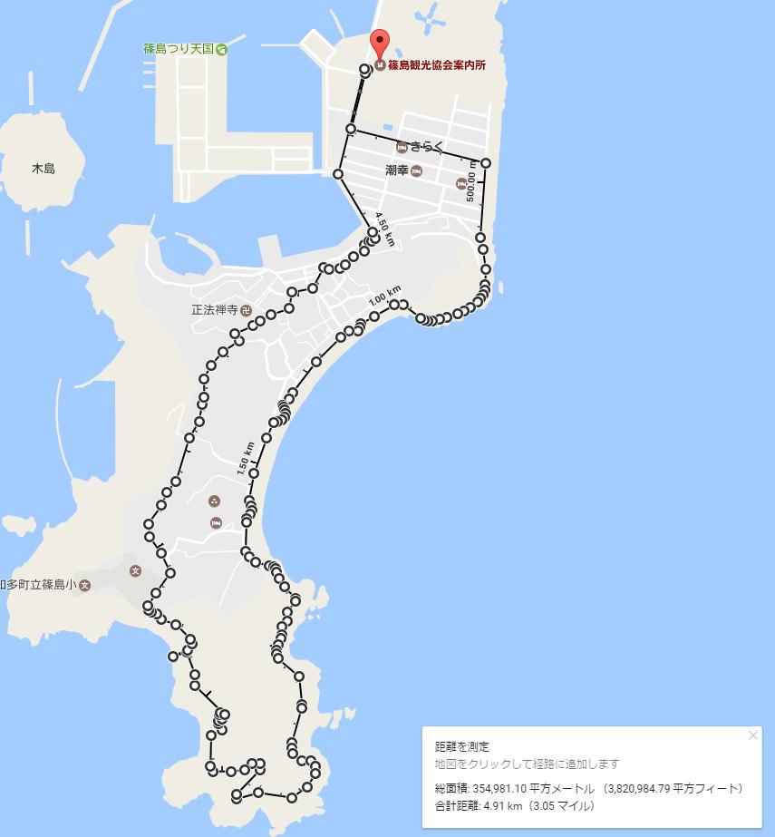 篠島ハイキングマップ